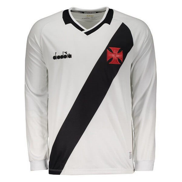 Camiseta Vasco da Gama Diadora 2ª ML 2019-2020 Blanco